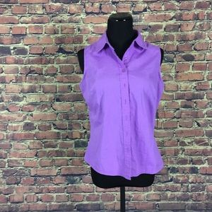 Basic Editions Purple Lavender Sleeveless Blouse